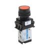 DS234P60-FH2A , Janatics , 1/8 -3/2 NO valve with switch (Flush head-Green) , Spool , 3/2 Normally open , Flush Head (Green) , Spring Return , 1/8