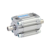 A61040010O,Janatics,Compact Cylinders,DA 40 x 10 Compact(ISO) Cyl.(DE) Basic,Double end Double acting,Elastomer  end Cushioning,Non Magnetic,Female Thread