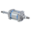 A18160160O,Janatics,Tie Rod Cylinders,DA 160 x 160 Cyl. (DE) Basic,Double End Double Acting,Non Magnetic,Adjustable Cushioning