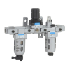 FRLM176534,Janatics,Modular,FRLM-1 (40Micron,10bar),Filter Regulator Lubricator Modular,Polycarbonate,Manual Drain,0.5 - 10 bar