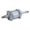 A18125125O,Janatics,Tie Rod Cylinders,DA 125 x 125 Cyl. (DE) Basic,Double End Double Acting,Non Magnetic,Adjustable Cushioning