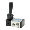 DS245HR61,Janatics,Manual and Mechanical Valve,1/4 -3/2 NC Hand lever sp. return valve,Spool,3/2 Normally closed, 1/4
