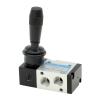 DS235HR61,Janatics,Manual and Mechanical Valve,1/4 -3/2 NO Hand lever sp. return valve,Spool,3/2 Normally open, 1/4