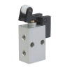 DP242R70,Janatics,Manual and Mechanical Valve,3/2 NC Roller Lever Valve M5,Poppet,3/2 Normally closed,M5