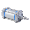 A16125400O,Janatics,Tie Rod Cylinders,DA 125 x 400 Cyl. Basic,Double acting,Non Magnetic,Adjustable Cushioning