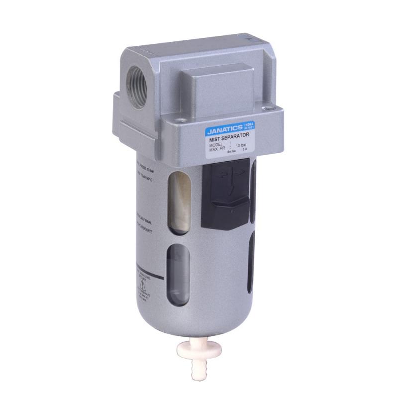 F15635-A,Janatics,Filter-1/2 (100Micron)With Internal Auto drain,BSP,Polycarbonate