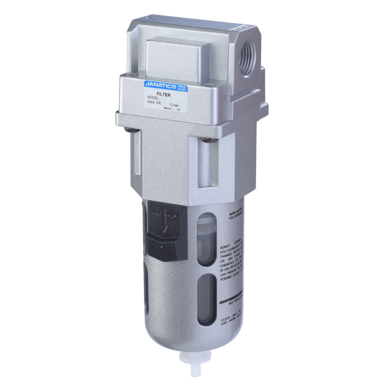 F17640-A,Janatics,Filter-3/4 (1Micron) with Internal Auto drain,BSP,Polycarbonate,Internal Auto Drain