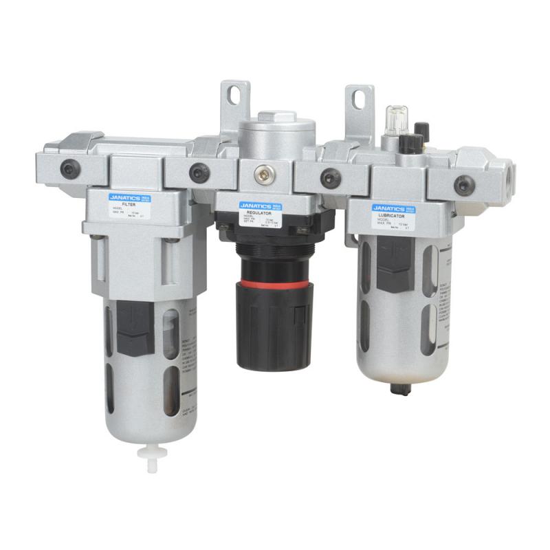 FRLM146234-A,Janatics,Modular,FRLM-3/8(40Micron,10bar) with Int.auto drain,Filter Regulator Lubricator Modular,Polycarbonate,Auto Drain,0.5 - 10 bar