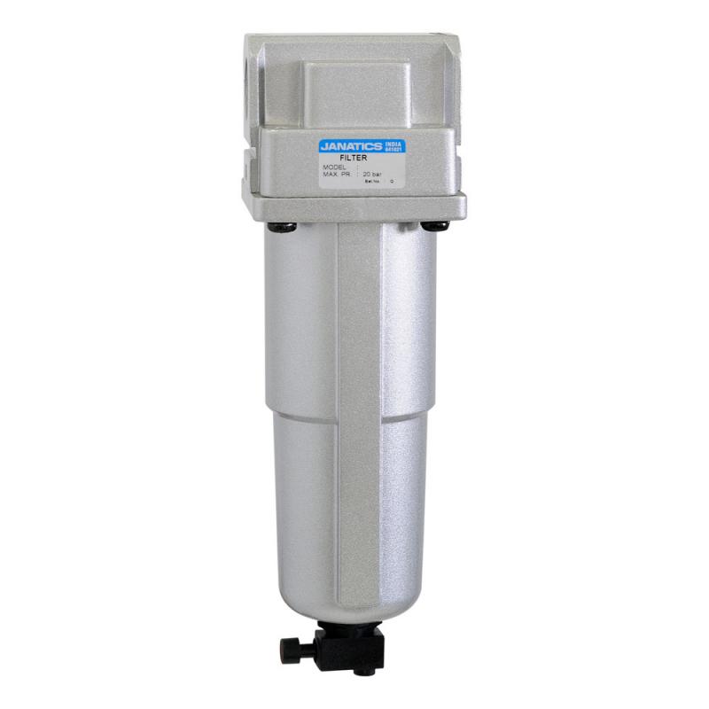 F15931-MM,Janatics,Filter-1/2 NPT(5 Micron)Metalbowl,M.drain,NPT,Metal