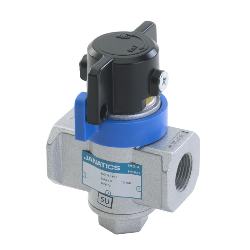 GS245L91,Janatics,Shut off valve - 3/2 NC 1/4NPT (Lockable),Shut Off Valve Lockable,3/2 Normally Closed,NPT,1/4