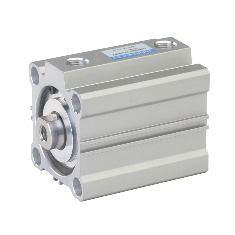 A02100080O,Janatics,Compact Cylinders,DA 100 x 80 Compact Cyl. Basic,Double acting,Elastomer  end Cushioning,Non Magnetic,Female Thread
