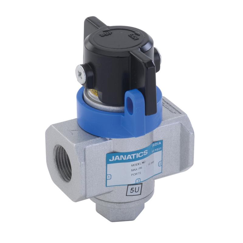 GS246L62,Janatics,Shut off valve - 3/2 NC , G3/8 (Lockable),Shut Off Valve Lockable,3/2 Normally Closed,BSP,3/8