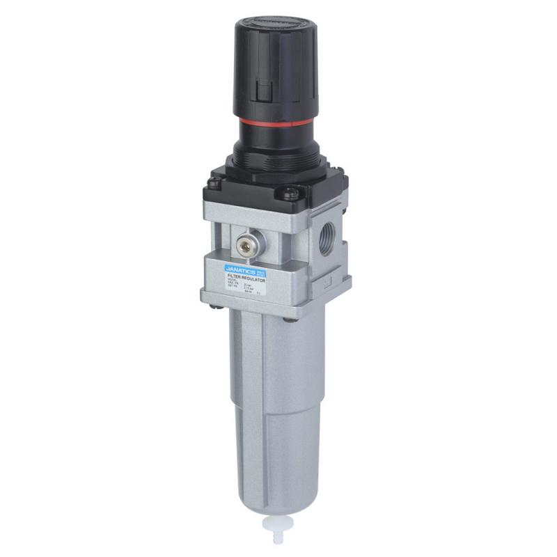 FRC146231-MA,Janatics,Filter Regulator combination,FRC-3/8 (40Micron,2bar)Metal bowl,Auto drain,BSP