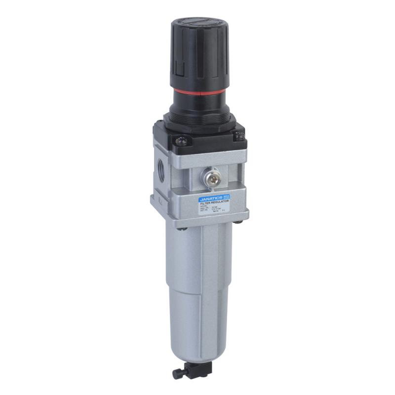 FRC136132-MM,Janatics,Filter Regulator combination,FRC-1/4 (40Micron,4bar)Metal bowl,M.drain,BSP