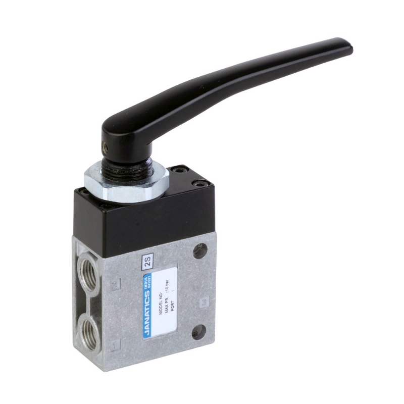 DP045H61,Janatics,Manual and Mechanical Valve,3/2NC HAND LEVER VALVE-1/4  (DP0 Series),Poppet,3/2 Normally closed,1/4