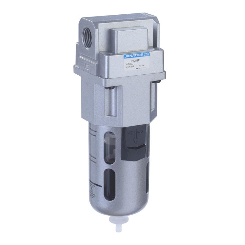 F14620-A,Janatics,Filter-3/8 (1Micron)With Internal Auto drain,BSP,Polycarbonate,Internal Auto Drain