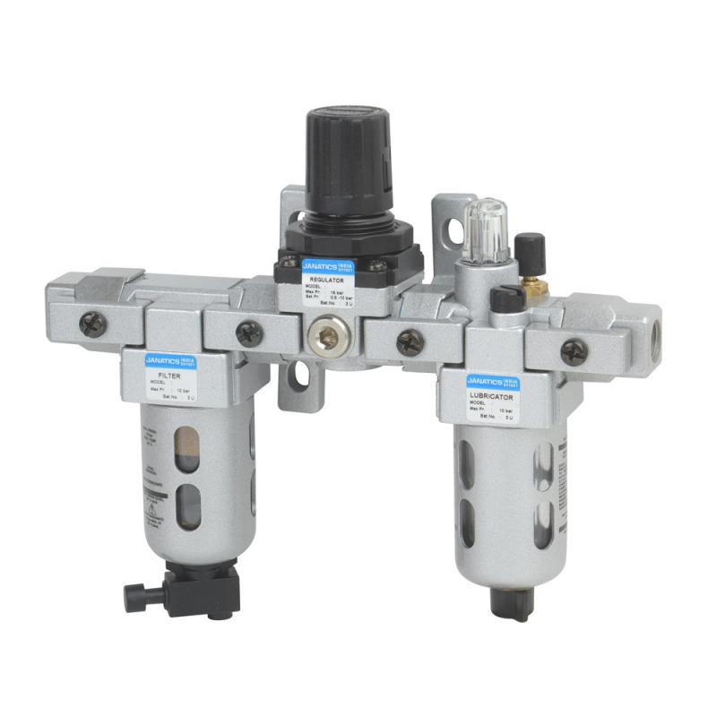 FRLM176424,Janatics,Modular,FRLM-3/4 (25Micron,10 bar),Filter Regulator Lubricator Modular,Polycarbonate,Manual Drain,0.5 - 10 bar