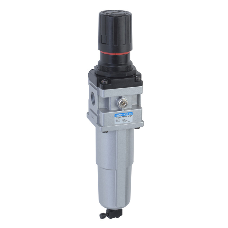 FRC136131-MM,Janatics,Filter Regulator combination,FRC-1/4 (40Micron,2bar)Metal bowl,M.drain,BSP