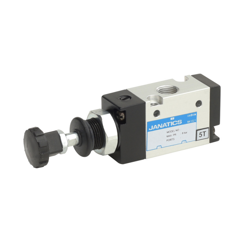 DS235PR61,Janatics,Manual and Mechanical Valve,1/4 -3/2 NO Push Pull sp. return valve,Spool,3/2 Normally open, 1/4
