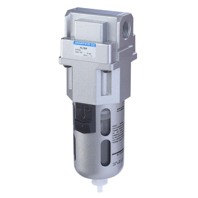F17650-A,Janatics,Filter-1 (1Micron) with Internal Auto drain,BSP,Polycarbonate,Internal Auto Drain