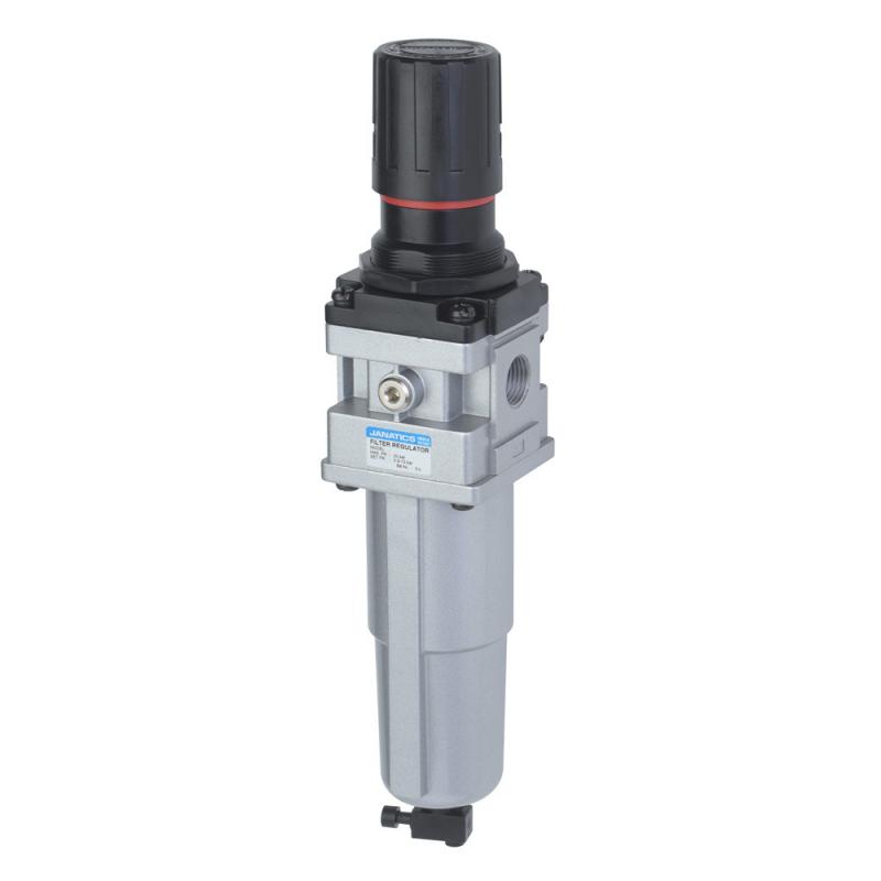 FRC159312-MM,Janatics,Filter Regulator Combination,FRC-1/2 NPT(5Micron,4bar)Metalbowl,Manual Drain