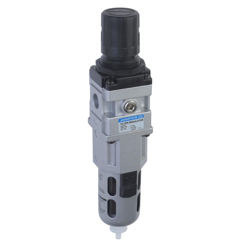 FRC156333-A,Janatics,Filter Regulator combination,FRC-1/2 (40Micron,7bar)with Internal Auto drain,BSP