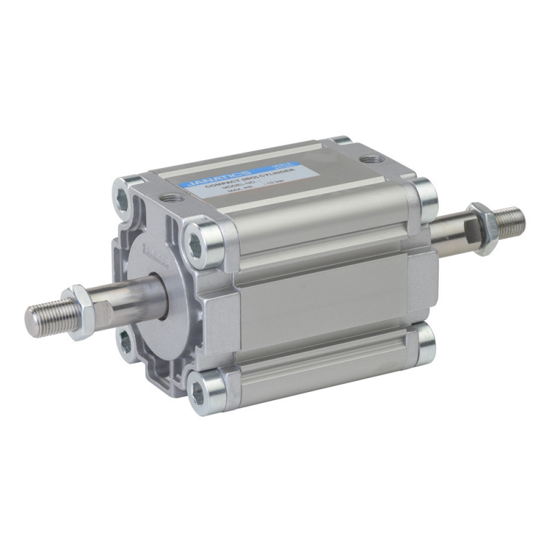 A61050010O,Janatics,Compact Cylinders,DA 50 x 10 Compact(ISO) Cyl.(DE) Basic,Double end Double acting,Elastomer  end Cushioning,Non Magnetic,Female Thread