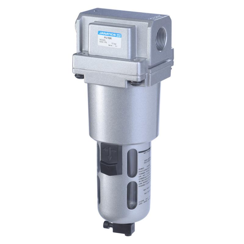 F15632,Janatics,Filter-1/2 (25Micron),BSP,Polycarbonate,Manual Drain