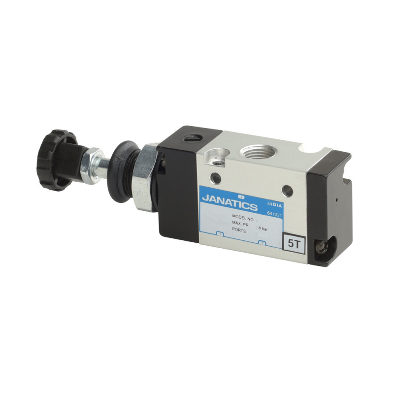 DS234PR60,Janatics,Manual and Mechanical Valve,1/8 -3/2 NO Push Pull sp. return valve,Spool,3/2 Normally open, 1/8