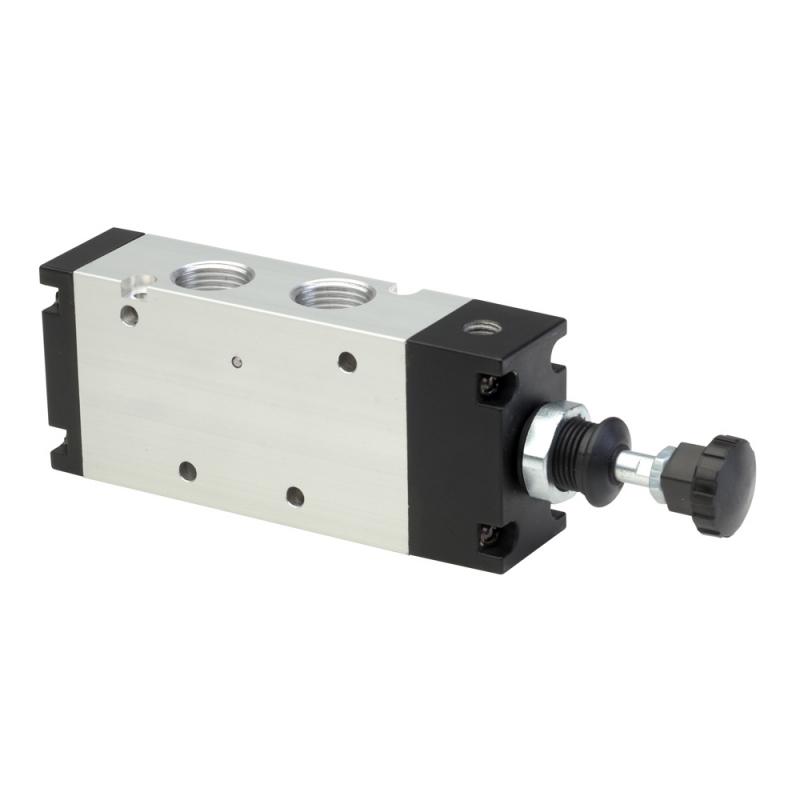 DS237PR63,Janatics,Manual and Mechanical Valve,1/2 -3/2 NO Push Pull sp. return valve,Spool,3/2 Normally open, 1/2