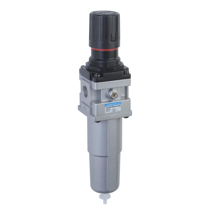 FRC146224-MA,Janatics,Filter Regulator combination,FRC-3/8 (25Micron,10bar)Metal bowl,Auto drain,BSP