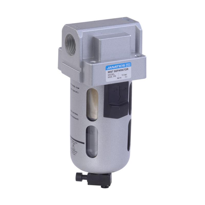 FS15633,Janatics,Mist Separator-1/2 (0.1Micron),BSP,Polycarbonate,Manual Drain