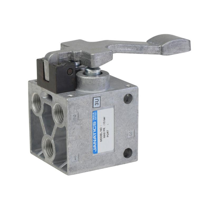 DP055N61,Janatics,Manual and Mechanical Valve,5/2 FINGER LEVER VALVE-1/4,Poppet,5 Port 2 Position,1/4