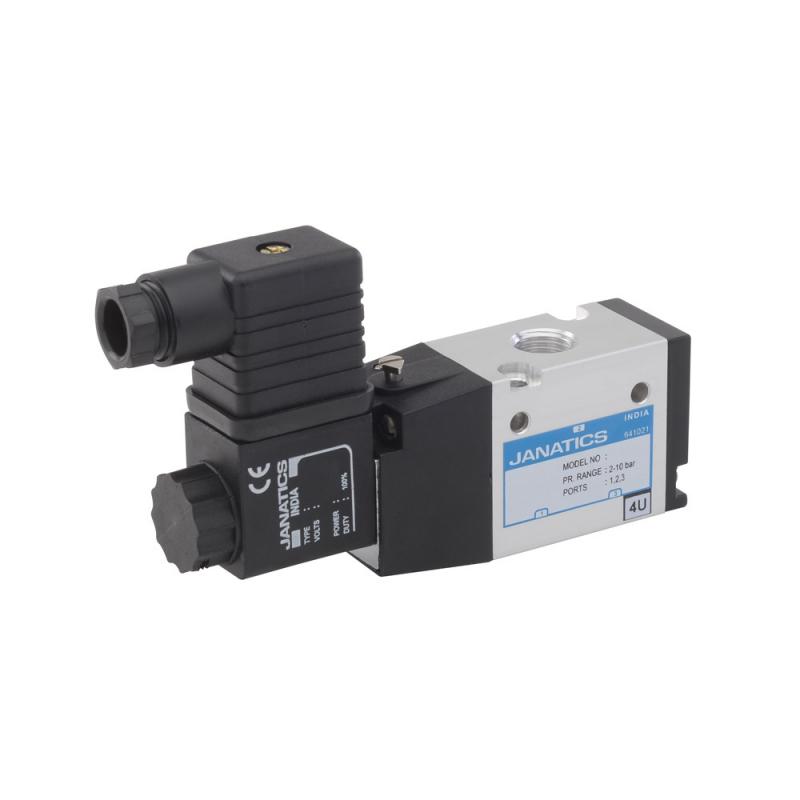 DS235SR61-WT1R0,Janatics,Solenoid Valve,1/4 -3/2 NO,24V DC (S) Sol. sp. return valve with LED socket,Spool,3/2 Normally open
