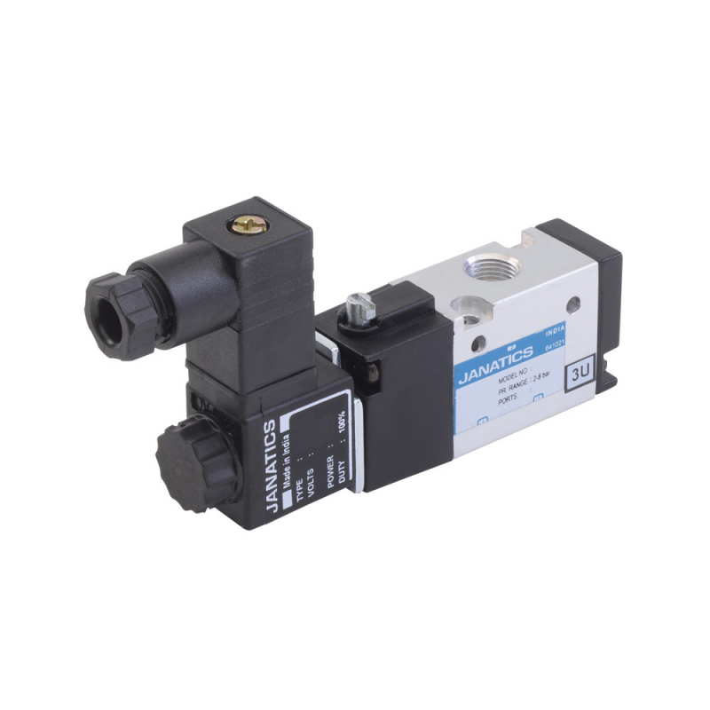 DS244SR60-B,Janatics,Solenoid Valve,1/8 -3/2 NC,110V AC Single Sol. sp. return valve,Spool,3/2 Normally closed