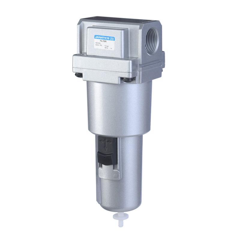 F15633-MA,Janatics,Filter-1/2 (40Micron)Metalbowl,Auto drain,BSP,Metal,Internal Auto Drain