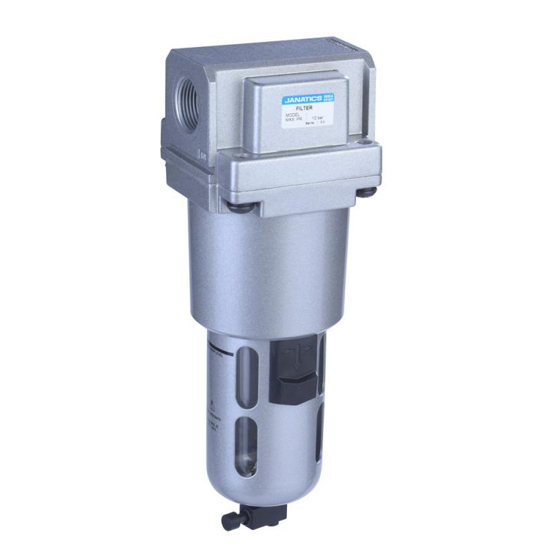 F17640,Janatics,Filter-3/4 (1Micron),BSP,Polycarbonate,Manual Drain
