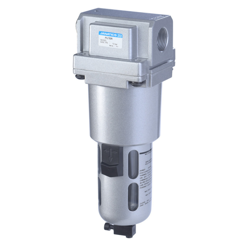 F15634,Janatics,Filter-1/2 (50Micron),BSP,Polycarbonate,Manual Drain