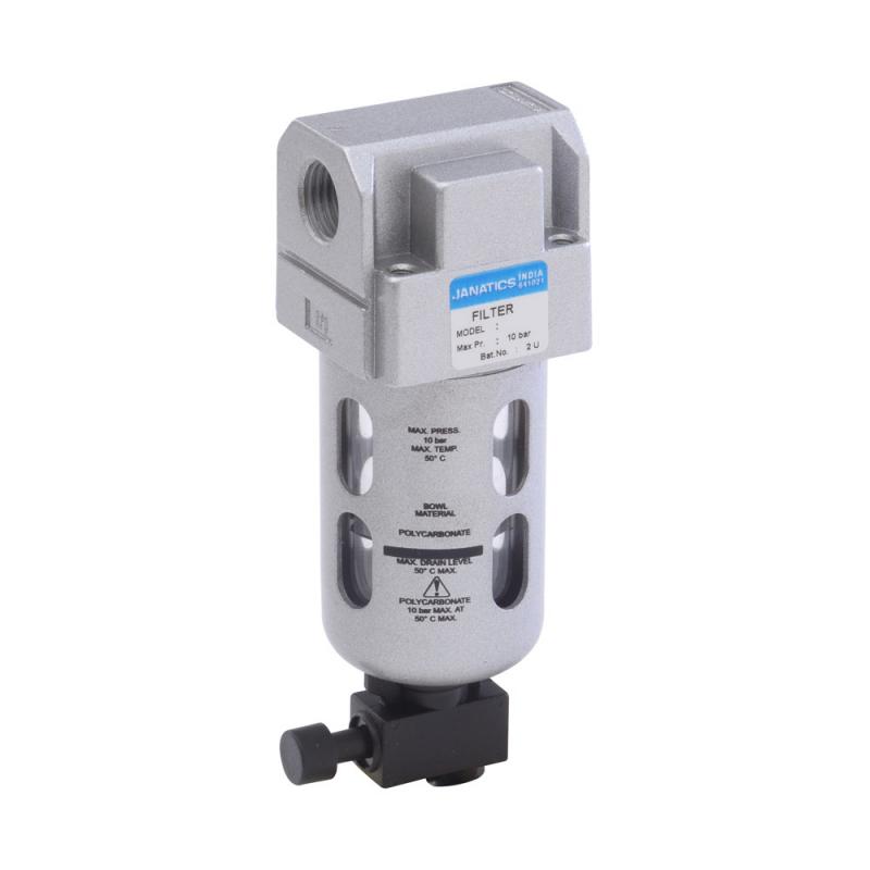 F14621,Janatics,Filter-3/8 (5Micron),BSP,Polycarbonate,Manual Drain