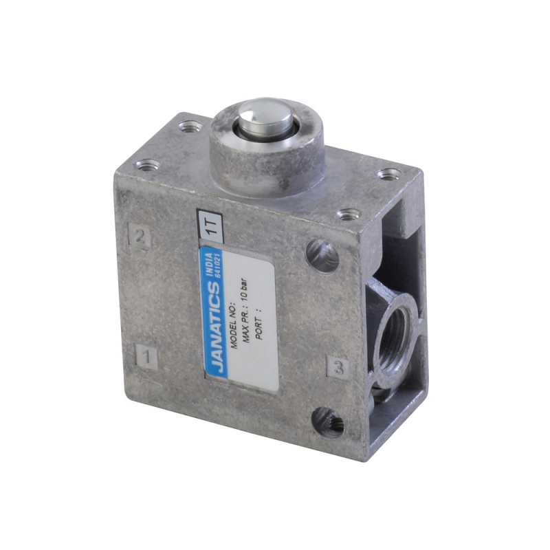 DP045061,Janatics,Manual and Mechanical Valve,3/2NC STEM ACTUATED VALVE 1/4,Poppet,3/2 Normally closed,1/4