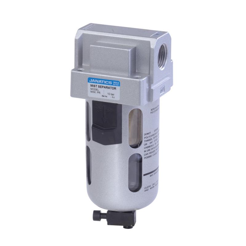 FS13613,Janatics,Mist Separator-1/4 (0.10Micron),BSP,Polycarbonate,Manual Drain