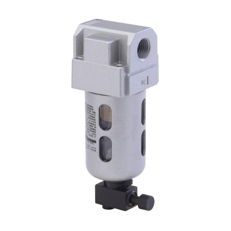 F13610,Janatics,Filter-1/4 (1Micron),BSP,Polycarbonate,Manual Drain